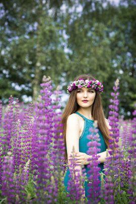 Веночек на голову С цветами и зеленью в Stranamasterov.by Беларусь.