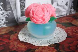 Мыло ручной работы Букет роз в вазочке в Stranamasterov.by Беларусь.
