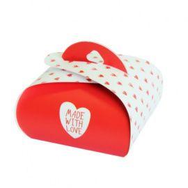 """Подарочная коробочка Бонбоньерка """"Made With Love"""", 2шт в упаковке, HY00915 Беларусь."""