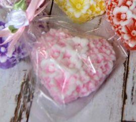 Мыло свадебное Сердце цветочное - подарок ручной работы на свадьбу Беларусь.