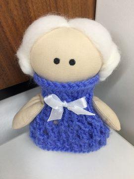 Текстильная куколка Блондинка в голубом в Stranamasterov.by Беларусь.