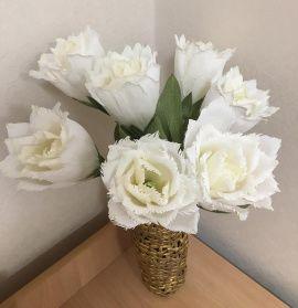 Тюльпаны Махровые белые в Stranamasterov.by Беларусь.