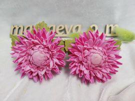 Резинки Хризантемы розовые в Stranamasterov.by Беларусь.