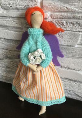Текстильная кукла Ангел Анфиса в Stranamasterov.by Беларусь.