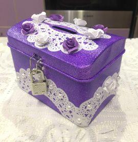 Казна Фиолетовая - подарок ручной работы на свадьбу Беларусь.