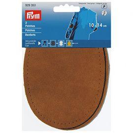 Заплатки пришивные велюр-кожа 10*14см, 2шт, коричневый цв., 929353, PRYM Россия.