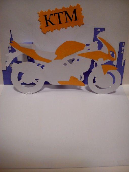 Объемная открытка мотоцикл своими руками, осень музыкой