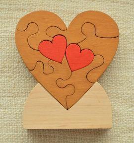 Сердце паззл Интерьерное деревянное в Stranamasterov.by Беларусь.
