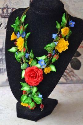 Колье Летние цветы в Stranamasterov.by Беларусь.