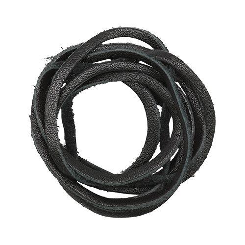 Шнур из натуральной кожи 3мм*1м, дизайн №301, 100% кожа, чёрный