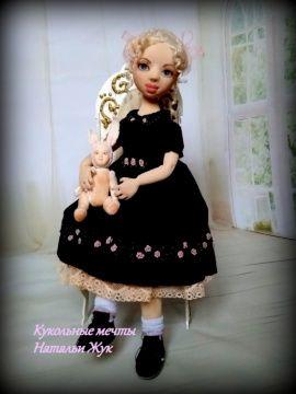 Авторская кукла Кукла Эмма и ее друг в Stranamasterov.by Беларусь.