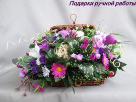 КОМПОЗИЦИЯ цветочная В шкатулке в Stranamasterov.by Беларусь.