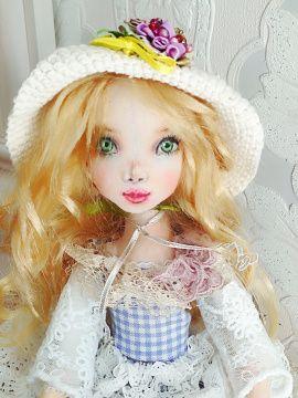 Текстильная кукла Алёна в Stranamasterov.by Беларусь.