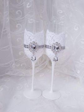 Свадебные Бокалы - подарок ручной работы на свадьбу Беларусь.