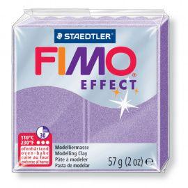 Запекаемая полимерная глина FIMO EFFECT перламутровая сирень 8020-607 57гр Россия.