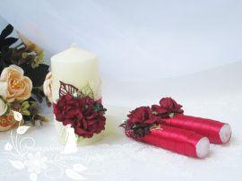 Семейный очаг Золото в бордо - подарок ручной работы на свадьбу Беларусь.