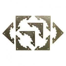 Уголок декоративный для шкатулок 40*40мм, 8шт бронза Россия.