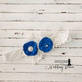 Подвязка невесты Минимализм - подарок ручной работы на свадьбу Беларусь.