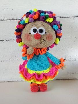 Амигуруми кукла Бонни В костюме Клоуна в Stranamasterov.by Беларусь.