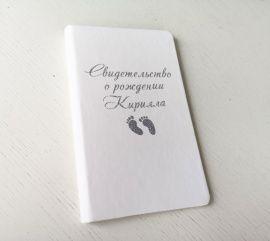 Обложка для Свидетельства о рождении в Stranamasterov.by Беларусь.