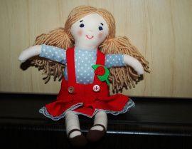 Текстильная кукла Таня в Stranamasterov.by Беларусь.