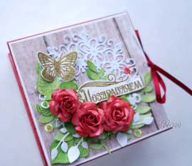 Коробочка для денег Красные розы в Stranamasterov.by Беларусь.