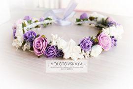 Веночек на голову Фиолетовые розочки в Stranamasterov.by Беларусь.
