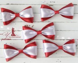 Бутоньерки для друзей Бордо - подарок ручной работы на свадьбу Беларусь.