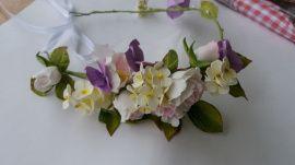 Свадебный венок Роза сгортензией - подарок ручной работы на свадьбу Беларусь.