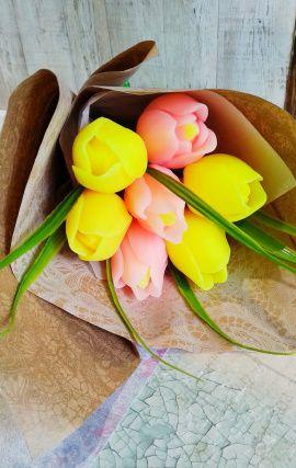 Мыло сувенирное Букет из 7 тюльпанов в Stranamasterov.by Беларусь.