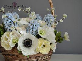 Цветы в корзине Цветы ручной работы в Stranamasterov.by Беларусь.