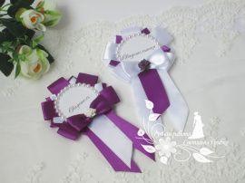Значки для свидетелей Фианит - подарок ручной работы на свадьбу Россия.