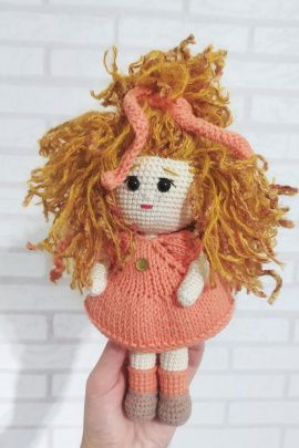 Кукла вязанная Солнышко в Stranamasterov.by Беларусь.