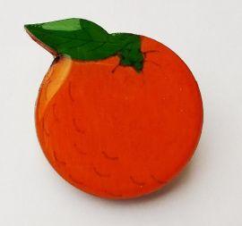 Брошь-значок Веселый апельсин в Stranamasterov.by Беларусь.