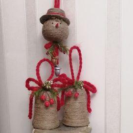 Набор новогодний Снеговик - подарок ручной работы на свадьбу Беларусь.