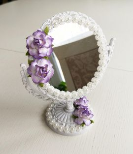 Зеркало Настольное - подарок ручной работы на свадьбу Беларусь.