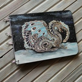 Блокнот из дерева А4 Снежный дракон в Stranamasterov.by Беларусь.