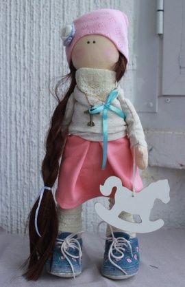 Кукла-малышка Алеся - чёрная коса в Stranamasterov.by Беларусь.