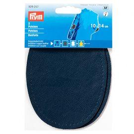 Заплатка искусственная кожа наппа 10*14см темно-синий 2шт, 929257, PRYM Россия.