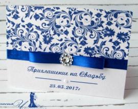 Приглашение Узоры - подарок ручной работы на свадьбу Беларусь.