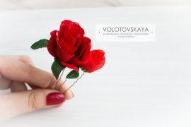 Шпильки в прическу Красные розы в Stranamasterov.by Беларусь.