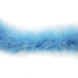 Боа пух 20гр/1.8м, 1шт, голубой-2985C, HT0901 Россия.