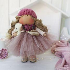 Текстильная кукла В фатиновой юбочке в Stranamasterov.by Беларусь.