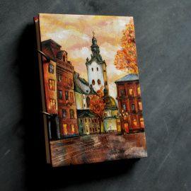 Блокнот из дерева А5 Львов в Stranamasterov.by Беларусь.