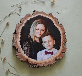 Фото на дереве Цветное фото на спиле в Stranamasterov.by Беларусь.