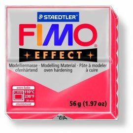 Полимерная глина FIMO EFFECT полупрозрачная Красный 8020-204 57гр Россия.