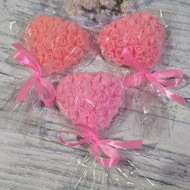 Бонбоньерка Сердце из роз мыло-сувени - подарок ручной работы на свадьбу Беларусь.