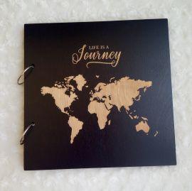 Деревянный фотоальбом Life is a journey в Stranamasterov.by Беларусь.
