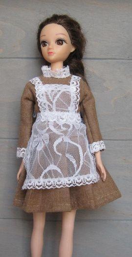 Платье для куклы Школьное в Stranamasterov.by Беларусь.