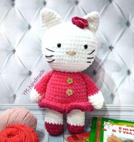 Амигуруми Hello Kitty в Stranamasterov.by Беларусь.